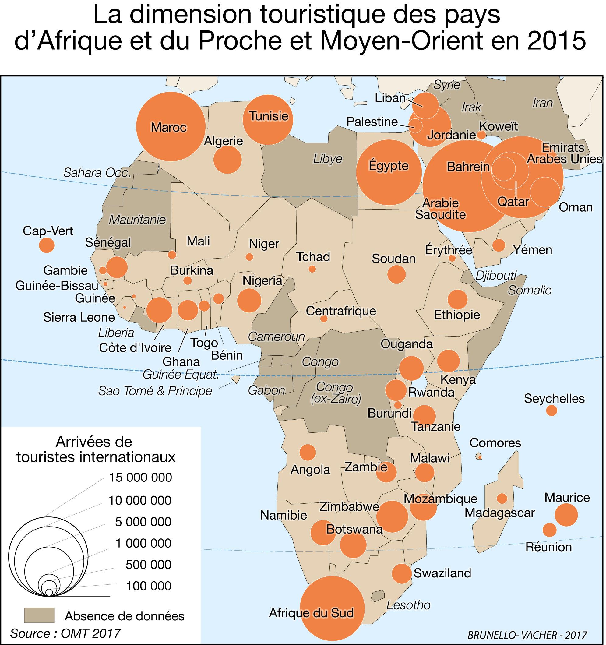 Carte Tourisme Monde